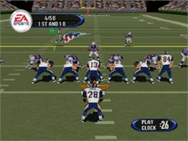In game image of Madden NFL 2003 on the Sony Playstation.