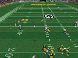In game image of Madden NFL 98 on the Sony Playstation.