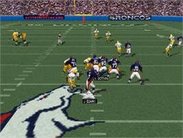 In game image of Madden NFL 99 on the Sony Playstation.