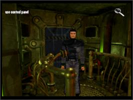 In game image of Martian Gothic: Unification on the Sony Playstation.