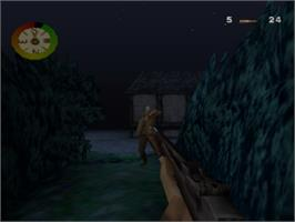 In game image of Medal of Honor: Underground on the Sony Playstation.