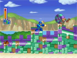 In game image of Mega Man 8: Anniversary Edition on the Sony Playstation.