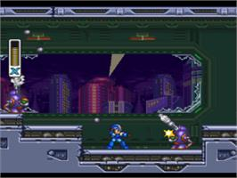 In game image of Mega Man X3 on the Sony Playstation.