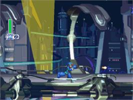 In game image of Mega Man X4 on the Sony Playstation.