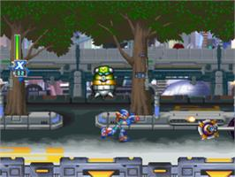 In game image of Mega Man X5 on the Sony Playstation.