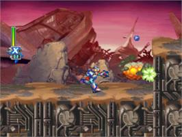 In game image of Mega Man X6 on the Sony Playstation.