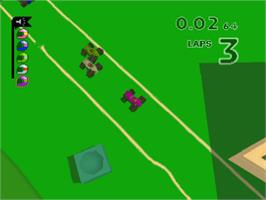 In game image of Micro Machines V3 on the Sony Playstation.