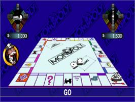 In game image of Monopoly on the Sony Playstation.