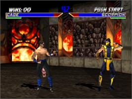 In game image of Mortal Kombat 4 on the Sony Playstation.