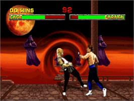 In game image of Mortal Kombat II on the Sony Playstation.