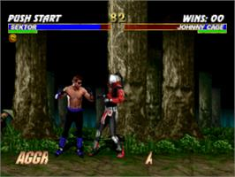 In game image of Mortal Kombat Trilogy on the Sony Playstation.