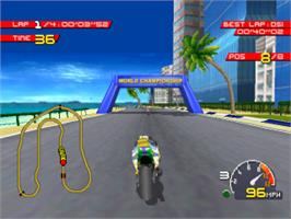 In game image of Moto Racer on the Sony Playstation.