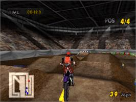 In game image of Motocross Mania on the Sony Playstation.