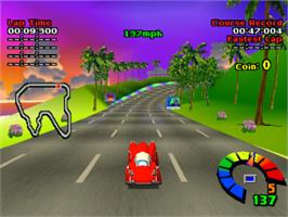 In game image of Motor Toon Grand Prix on the Sony Playstation.