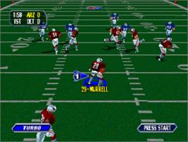 In game image of NFL Blitz on the Sony Playstation.