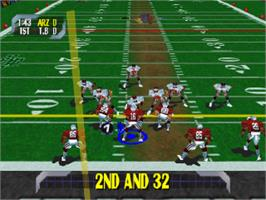 In game image of NFL Blitz 2000 on the Sony Playstation.