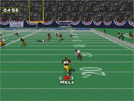 In game image of NFL GameDay '97 on the Sony Playstation.