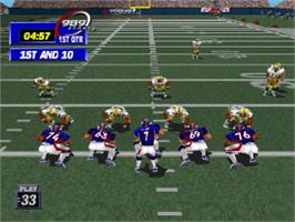 In game image of NFL GameDay '99 on the Sony Playstation.