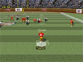 In game image of NFL GameDay on the Sony Playstation.