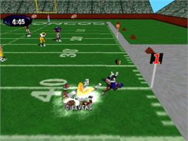 In game image of NFL Xtreme on the Sony Playstation.