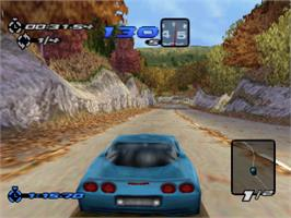 In game image of Need for Speed III: Hot Pursuit on the Sony Playstation.