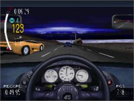 In game image of Need for Speed II on the Sony Playstation.