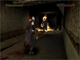 In game image of Nightmare Creatures II on the Sony Playstation.