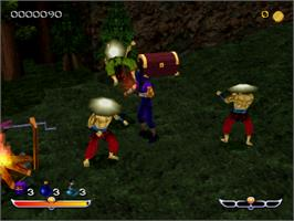 In game image of Ninja: Shadow of Darkness on the Sony Playstation.