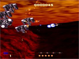 In game image of Novastorm on the Sony Playstation.