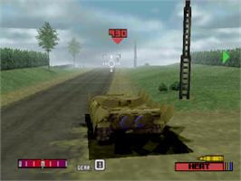 In game image of Panzer Front on the Sony Playstation.