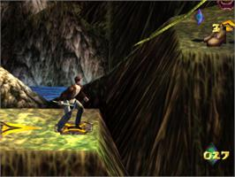 In game image of Pitfall 3D: Beyond the Jungle on the Sony Playstation.