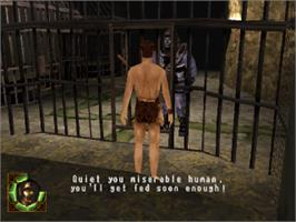 In game image of Planet of the Apes on the Sony Playstation.