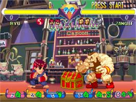 In game image of Pocket Fighter on the Sony Playstation.