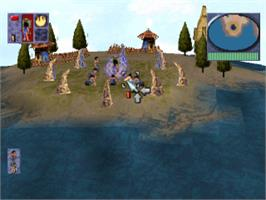 In game image of Populous: The Beginning on the Sony Playstation.