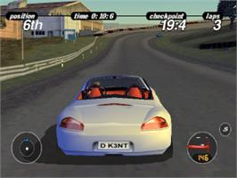 In game image of Porsche Challenge on the Sony Playstation.