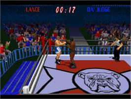 In game image of Power Move Pro Wrestling on the Sony Playstation.