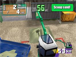 In game image of Power Shovel on the Sony Playstation.
