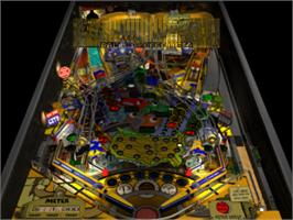 In game image of Pro Pinball: Big Race USA on the Sony Playstation.