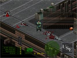 In game image of Project Overkill on the Sony Playstation.
