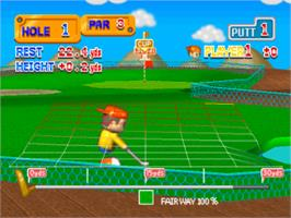 In game image of Putter Golf on the Sony Playstation.