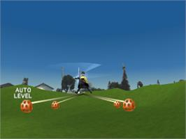 In game image of R/C Stunt Copter on the Sony Playstation.