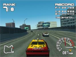 In game image of R4 Ridge Racer Type 4 on the Sony Playstation.