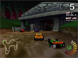 In game image of RC Revenge on the Sony Playstation.