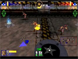 In game image of Rageball on the Sony Playstation.