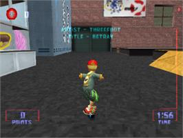 In game image of Razor Freestyle Scooter on the Sony Playstation.