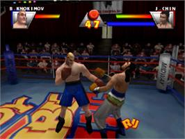 In game image of Ready 2 Rumble Boxing on the Sony Playstation.