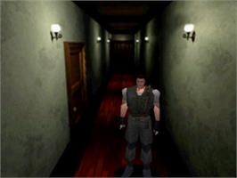 In game image of Resident Evil on the Sony Playstation.