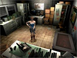 In game image of Resident Evil 3: Nemesis on the Sony Playstation.