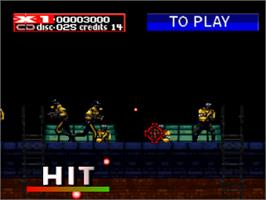 In game image of Revolution X on the Sony Playstation.
