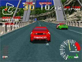 In game image of Ridge Racer on the Sony Playstation.